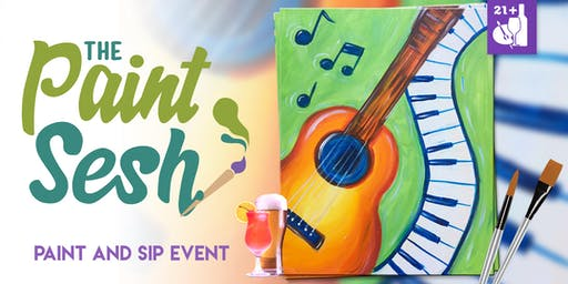 "Paint Night in Riverside, CA - ""Music Lover"""