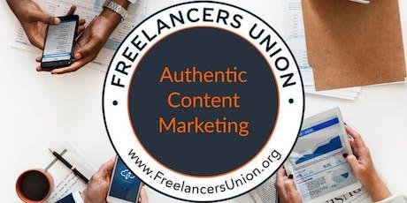 Tucson August Freelancers Union SPARK: Authentic Content Marketing tickets