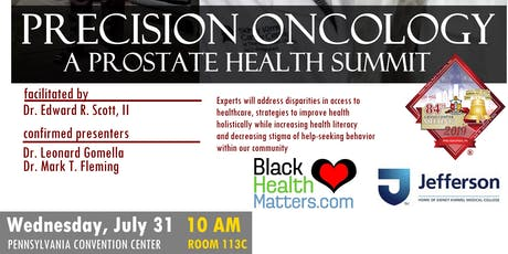 PRECISION ONCOLOGY - A PROSTATE HEALTH SUMMIT tickets