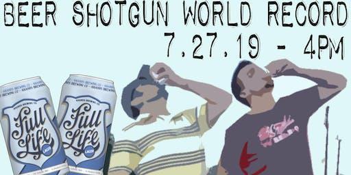 Beer Shotgun World Record Attempt