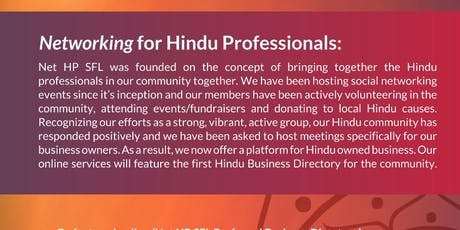 Hindu Community Business/Professional Networking Meeting & Social tickets