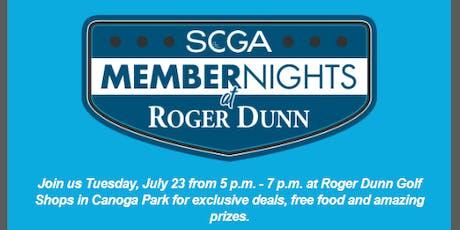 SCGA Member Nights: Roger Dunn - Canoga Park tickets