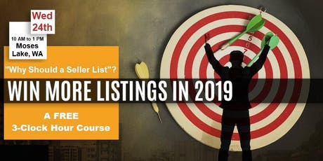 More Listings in 2019 - Join us for a FREE 3-Clock Hour Course in Moses Lake tickets