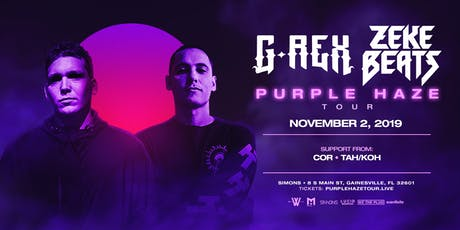 We The Plug Presents: G-REX & ZEKE BEATS Purple Haze Tour at Simons 11.02 tickets
