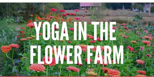 Community Yoga in the Flower Farm