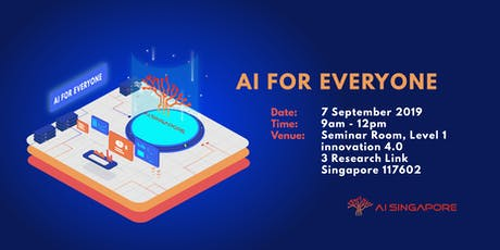 AI for Everyone (7 September 2019) tickets