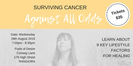 Surviving Cancer - Against All Odds - Rangiora tickets