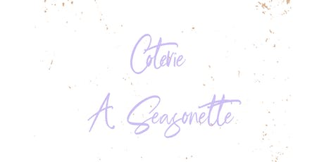 Coterie Seasonette: Colors on Clay tickets