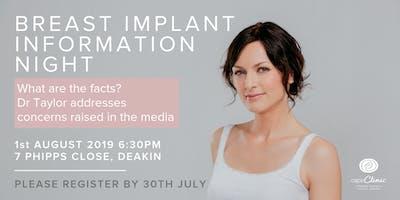 Breast Implant Information Night