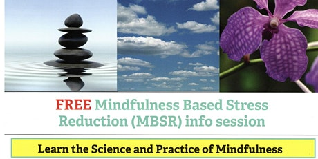 (ONLINE) Mindfulness Based Stress Reduction (MBSR) information session  tickets