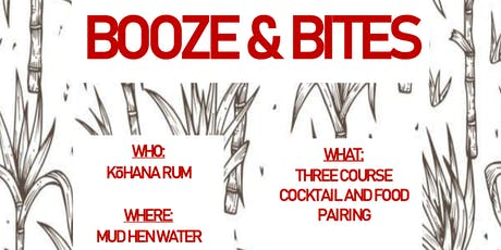 Booze & Bites - Kō Hana Rum tickets