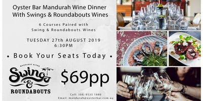 Oyster Bar Mandurah Wine Dinner with guests Swings & Roundabouts Wines
