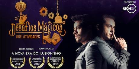 Show Desafios Mágicos: Relatividades - 20/09 ingressos
