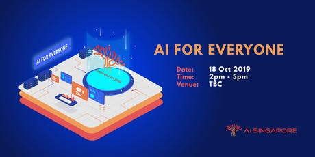 AI for Everyone (18 Oct 2019) tickets