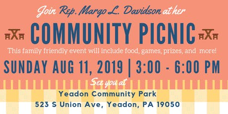 Rep. Margo L. Davidson Community Picnic Fundraiser tickets