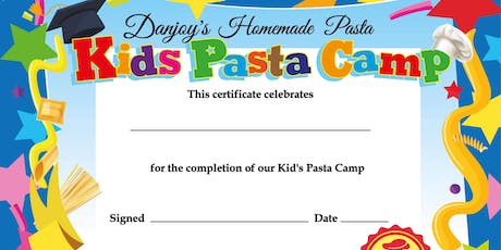 Kid's Pasta Camp - Aug 12th - Aug 15th tickets
