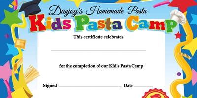 Kid's Pasta Camp - Aug 19th - Aug 22nd