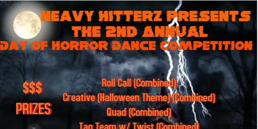 Heavy Hitterz Presents The 2nd Annual Day of Horror Dance Competition