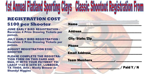 First Annual Flatland Sporting Clays Classic Shootout