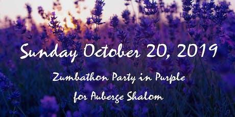 Zumbathon en Violet pour Auberge Shalom: 3ieme edition billets