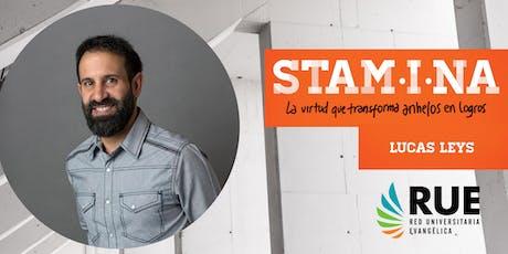 "Conferencia con Lucas Leys ""STAMINA"" entradas"