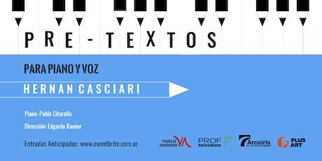 Pretextos para piano y voz con Hernán Casciari entradas