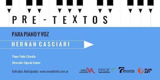 Pretextos para piano y voz con Hernán Casciari