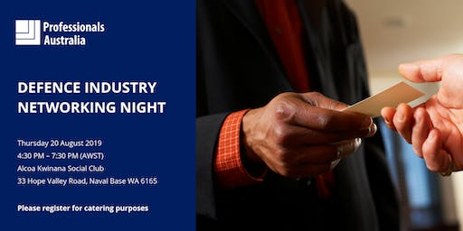 Professionals Australia's WA  Defence Industry Networking Night