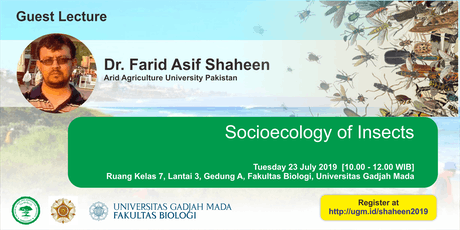 [Guest Lecture] Socioecology of Insects tickets