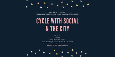 Cycle with Social N The City at Vibe Ride Detroit tickets