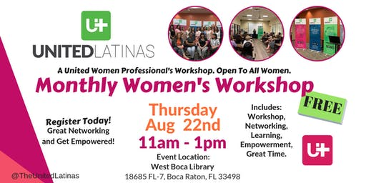 Monthly Women's Workshop- Aug 22nd, 2019