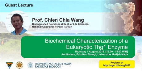 [Guest Lecture] Biochemical Characterization of a  Eukaryotic Thg1 Enzyme tickets