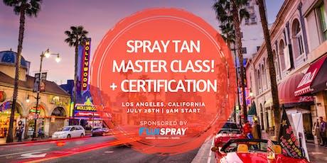 Spray Tan Master Class | Hollywood, CA tickets