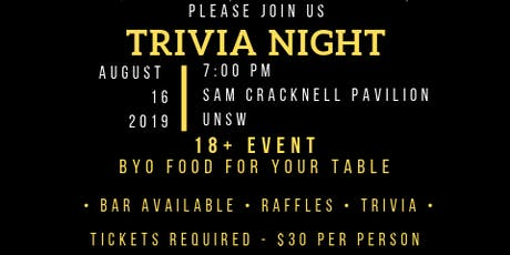 UNSW Wests trivia night tickets