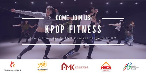 Weekly KpopX fitness classes(HPB) at AMK Centre Stage