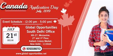 Canada Application Day Delhi tickets