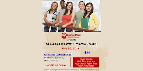 College Students and Mental Health tickets