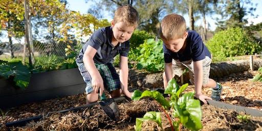 Kids in the garden - Bungarribee - September 2019