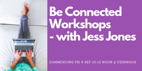 Be Connected Workshops - Online Hobbies with Jess Jones tickets