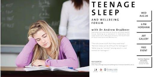 Teenage Sleep and Wellbeing Forum