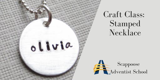 Stamped Pendant Necklaces