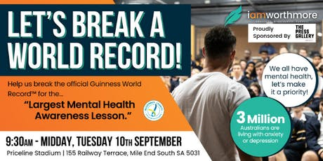 World's Largest Mental Health Lesson (Guiness World Record Attempt) tickets