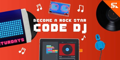 Become a Rock Star Code DJ, [Ages 7-10], 9 Sep - 13 Sep Holiday Camp (9:30AM) @ East Coast tickets