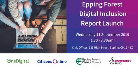 Epping Forest Digital Inclusion Report Launch tickets