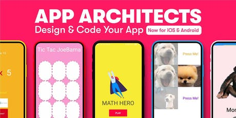 App Architects: Design & Code Your App, [Ages 11-14], 14 Oct - 18 Oct Holiday Camp (9:30AM) @ Bukit Timah tickets
