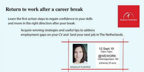 Return to work after a career break tickets