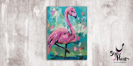 Sip & Paint @ SOULed OUT Ampang : Abstract Flamingo tickets