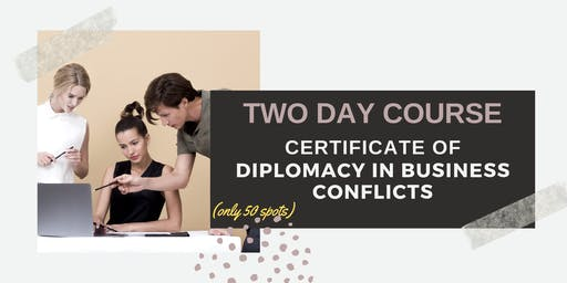The Art of Conflict Resolution in Business: Jakarta (29-30 October 2019)