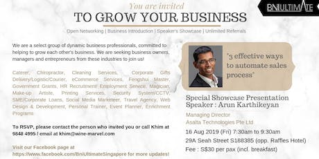 Three Effective Ways To Automate Sales Process - Singapore Business Breakfast Networking Session  tickets