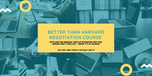 Better than Harvard Negotiation Course (5x cheaper): Jakarta (29-30 October 2019)